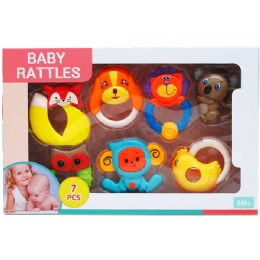12 Wholesale 7PC BABY RATTLE PLAY SET