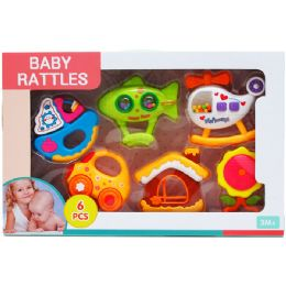 12 Wholesale 6PC BABY RATTLE PLAY SET