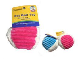 72 Units of Pet Ball Plush - Pet Toys