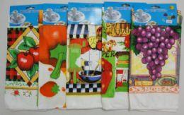 72 Units of Printed Dish Towels - Kitchen Towels