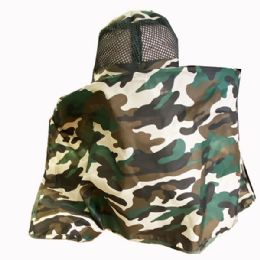 24 Units of Camo Fishing Sun Hat With Neck Cover - Sun Hats