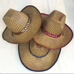 36 Units of Mariboro Straw Sun Hat - Sun Hats