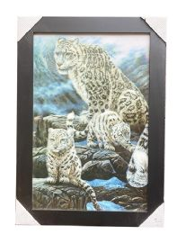 12 Units of White Leopard Canvas Picture Wall Art - Wall Decor