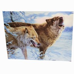 48 Units of Snow Wolves Canvas Picture - Wall Decor