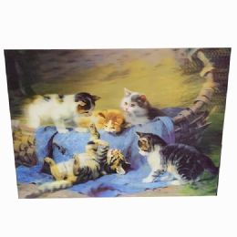 48 Units of Kittens Play Canvas Picture - Wall Decor