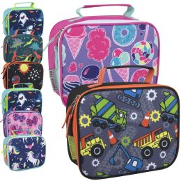 24 Units of Fridge Pack Printed Lunch Bag - Boys & Girls Assortment - Lunch Bags & Accessories