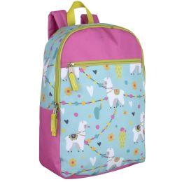 """24 Units of 17 Inch Printed Backpacks - Backpacks 16"""""""