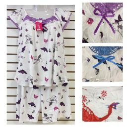 24 Units of 2 Piece Pajama Assorted Size And Color - Women's Pajamas and Sleepwear