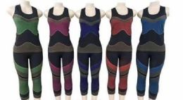 12 Units of Womens 2 Piece Active Sets In Assorted Colors - Womens Active Wear