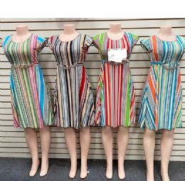 12 of Lady Dress With Belts In Assorted Color And Size