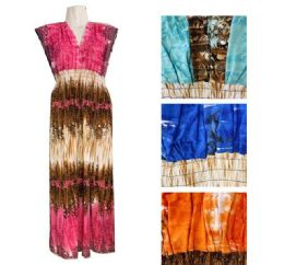 12 of Womens Printed Long Maxi Dress In Assorted Color And Size