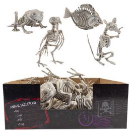 18 Units of Skeleton Animal 4ast In 18pc Pdq Plastic Crow/fish/rat/frog ht - Baby Accessories