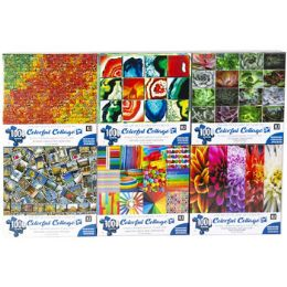 6 Units of Puzzle 1000pc Colorful Collages - Puzzles