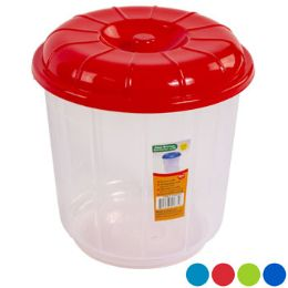 48 Units of Bucket With Lid 3 Qt Clear Bottom 4 Color Lids - Buckets & Basins