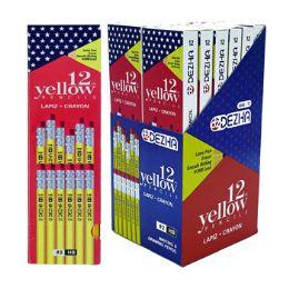 72 Bulk Pencils 12ct Yellow