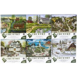 6 Units of Puzzle 750pc Country - Puzzles
