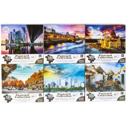 6 Units of Puzzle 300pc Postcard Collection - Puzzles