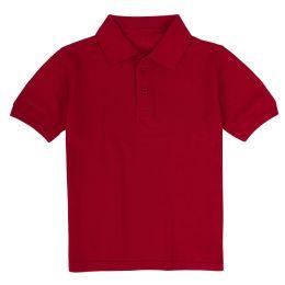 24 Bulk Kid's Short Sleeve Polo - Red- Size 7-8