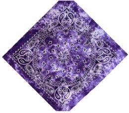 120 Units of Purple Tye Dye Bandana - Bandanas