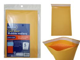 96 Wholesale 5pc Self-Seal Bubble Mailers 000#