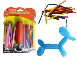 96 Wholesale 30 Twisty Balloons Air Pump Included