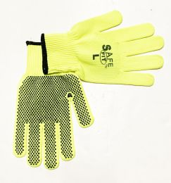 50 Wholesale Neon Dot Working Gloves