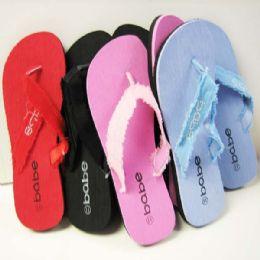 144 Units of Babe Slipper Color assorted - Women's Flip Flops