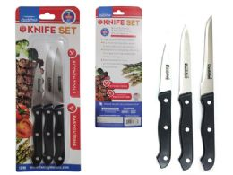 96 Bulk 3pc Kitchen Knife Set