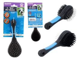 96 Wholesale 2-Way Pet Brush