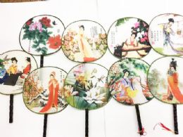 120 Wholesale Chinese Round Fan Assorted Style