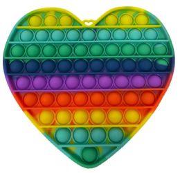 12 Bulk Heart Shape Push Pop