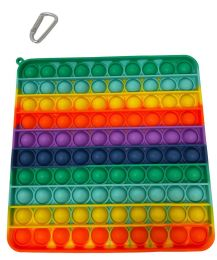 12 Bulk Rainbow Square Push Pop