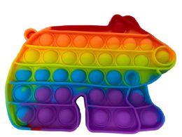 24 Units of Collar Bear Push Pop Bubble Toys - Fidget Spinners