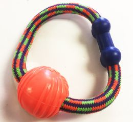 48 Units of Rubber Dog Play Ball Assorted Colors - Pet Toys
