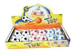72 Units of Soccerball Spin Toy with Lights And Sound - Balls