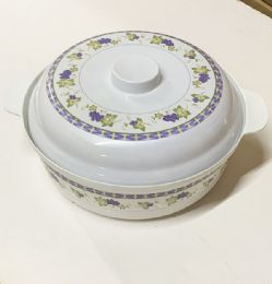 24 Units of Large 12 Inch Bowl With Lid Set - Plastic Bowls and Plates