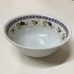 120 Units of 8 Inch Bowl Floral Design - Plastic Bowls and Plates