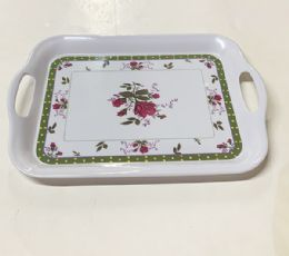 72 Units of Large Tray Floral Design - Serving Trays