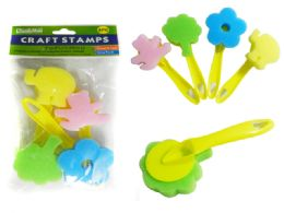 48 Units of Craft Stamp W/Handles - Arts & Crafts