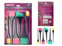 72 Bulk 6 Pc Silicone Hair Dying Brushes