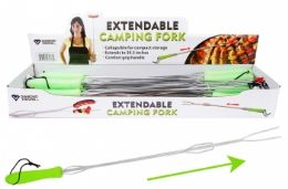 36 Units of Extendable Camping Fork - BBQ supplies