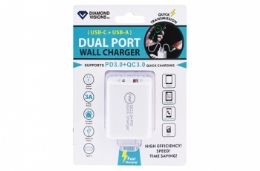 12 of PD Fast Charge Dual USB Wall Charger