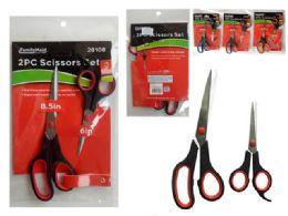 96 Wholesale 2-Pack Scissors