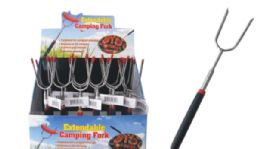 24 Units of Extendable Camping Fork - BBQ supplies