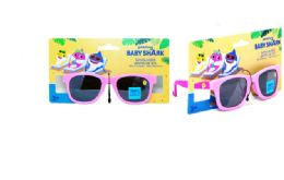 36 Units of Kids Sunglasses Pink Baby Shark - Tape Measures and Measuring Tools