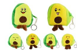 72 Units of Plush Coin Purse Avocado - Coin Holders & Banks
