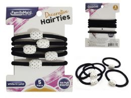 288 Units of 5pc Hair Ties - PonyTail Holders