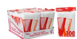 48 Units of Wrapped Straws 100 Count - Straws and Stirrers