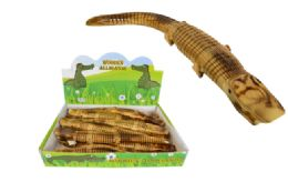 36 Units of Wooden Alligator 15 Inch - Toys & Games