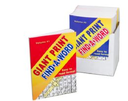 72 Units of Big Print Word Search Book - Crosswords, Dictionaries, Puzzle books